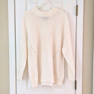 NEW American Eagle Pointelle Oversized Sweater, M
